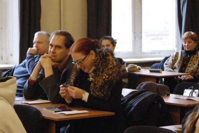 Початок роботи конференції. На фото О.Ковальчук, О.Лагутенко, О.Сом-Сердюкова
